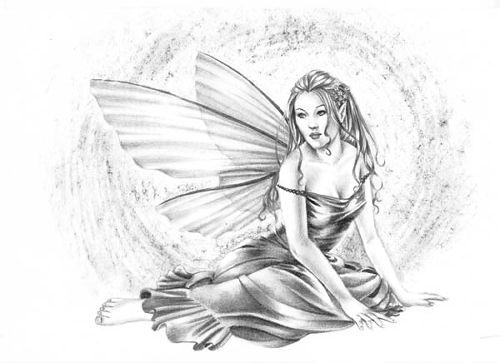Elfe noir et blanc - Dessin ange noir et blanc ...